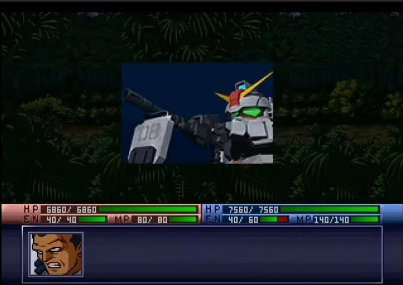 ゲーム初代SDガンダムGジェネレーションでの輝き撃ち