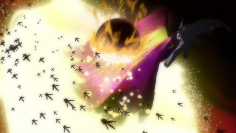 バスター雷王星を食らうエグゼリオ変動重力源